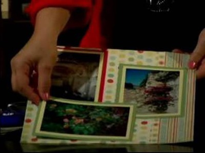 How to Frame Pictures in a Scrapbook : How to Glue Photos in a Scrapbook