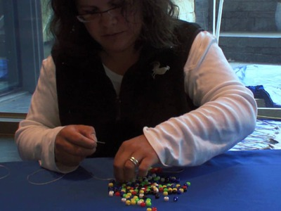 How to Make a Daisy Chain Bracelet: Step-by-Step with Teri Greeves (Kiowa) (Demonstration)