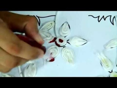 How To Make Cotton Flower  - Art And Craft