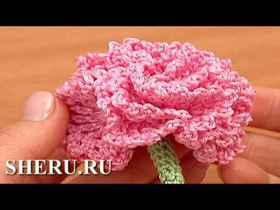 How To Make Crochet Carnation Flower  Урок 77 Гвоздика вязаная крючком