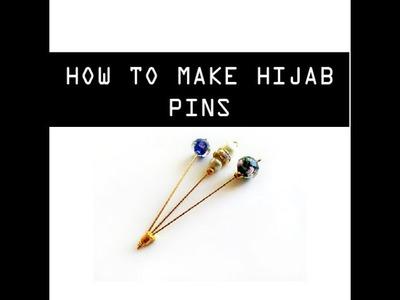 HOW TO MAKE HIJAB PINS AT HOME - DIY HIJAB PINS