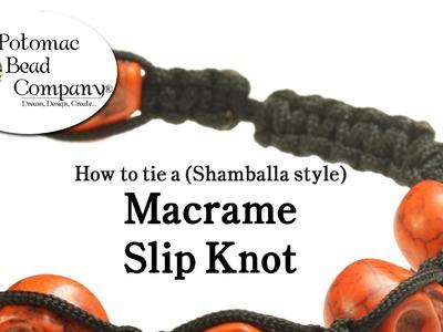 How to Tie a Macrame (Shamballa Style) Slip Knot Closure