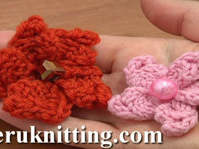 Knitted 5-Petal Flower Tutorial 5 Knit Bobble Stitch