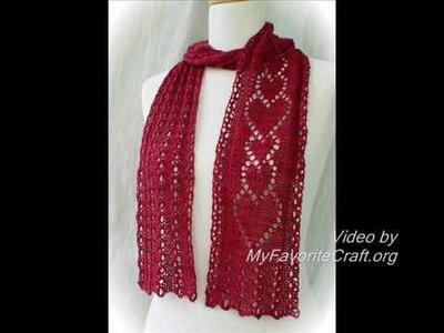 "Knitting Scarf Pattern ""Thinking of You"" - Pattern Presentation"