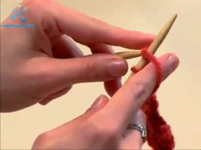 Knitting Tutorial for Beginners 2. Knit Stitch, Bind Off in Knit Stitch