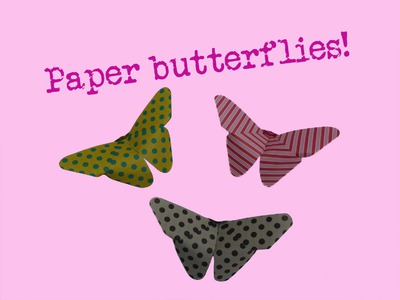 Make a paper Butterfly-folding-folded-DIY-Origami-Very easy-Kirigami-instructions-tutorial