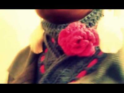 "One Strand ""Basket Weave"" Turtle Neck Crochet Scarf . . lol"