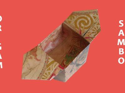 #Origami - Cajita de papel (Sambo)