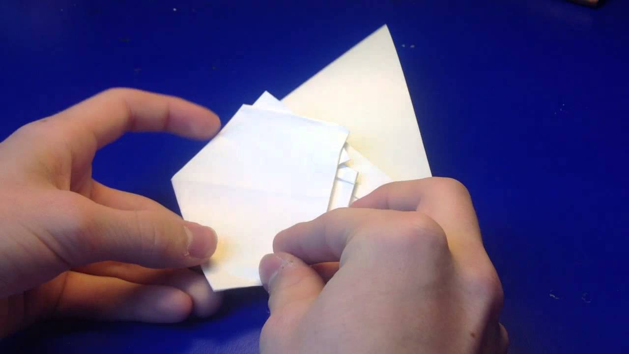 Origami Elefant - Elefant aus Papier basteln