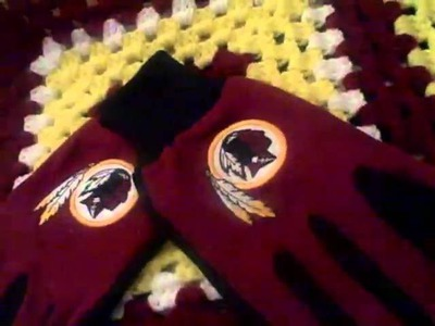 Redskin crochet blanket
