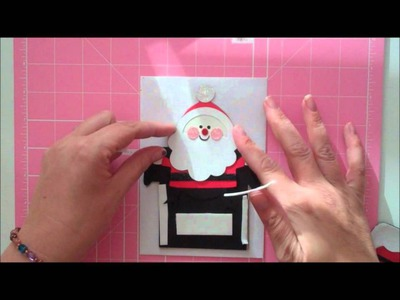 Santa Pops out of Chimney Christmas card