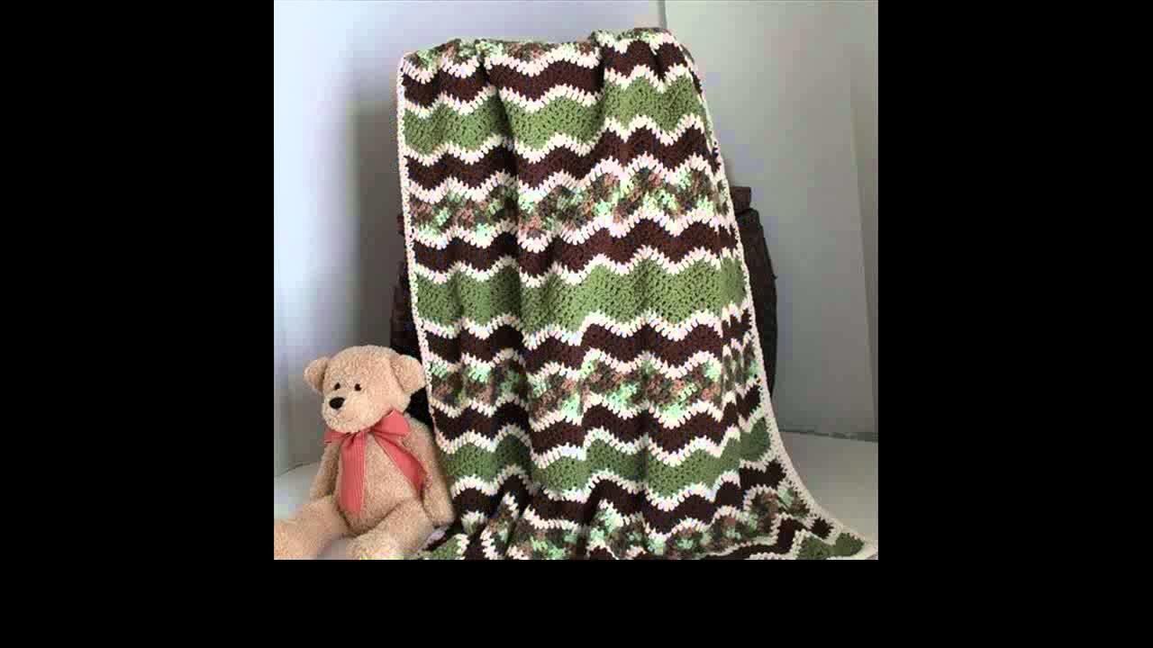 Single crochet ripple afghan pattern
