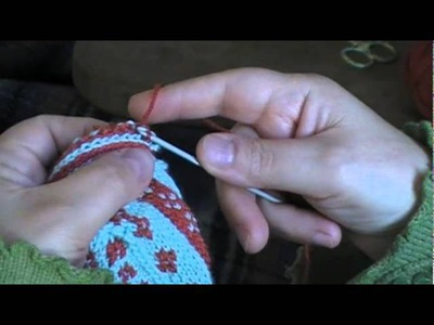 Slip-Stitch Crochet Steek Reinforcement