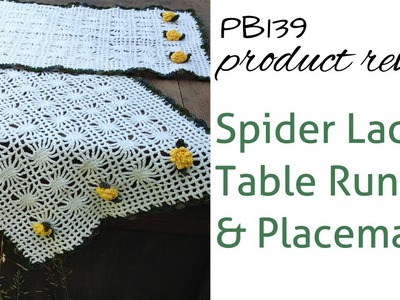 Spider Lace Table Set Review of Crochet Pattern PB139