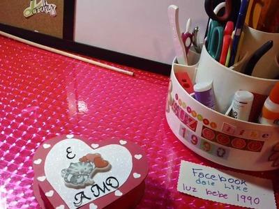 TARJETA CORAZON SCRAPBOOK+CAJITA+CARTA+REGALO san valentin.novios