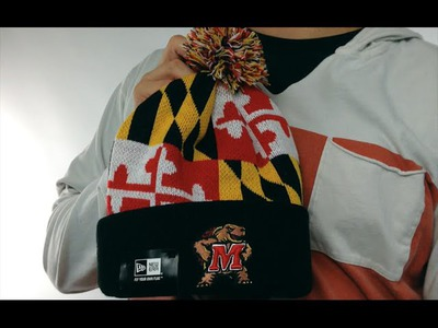 ac8a81081eb Terps  TURTLE MARYLAND-FLAG  Knit Beanie Hat by New Era