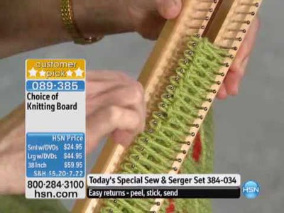 The Authentic Small Knitting Board with DVDs