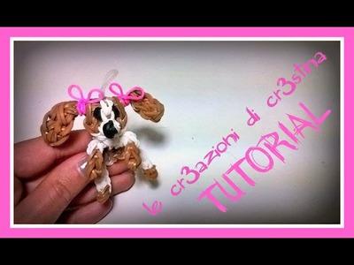 Tutorial Cane.Cagnolino con Elastici RAINBOW LOOM - DIY Dog Charm