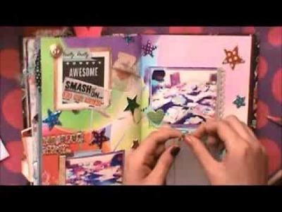 TUTORIAL SCRAPBOOK ♥ SMASH BOOK BABY Haz una pagina conmigo ♥ 08 11 2013