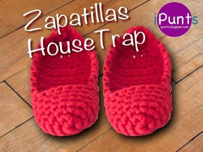 Tutorial Zapatillas Housetrap de trapillo paso a paso
