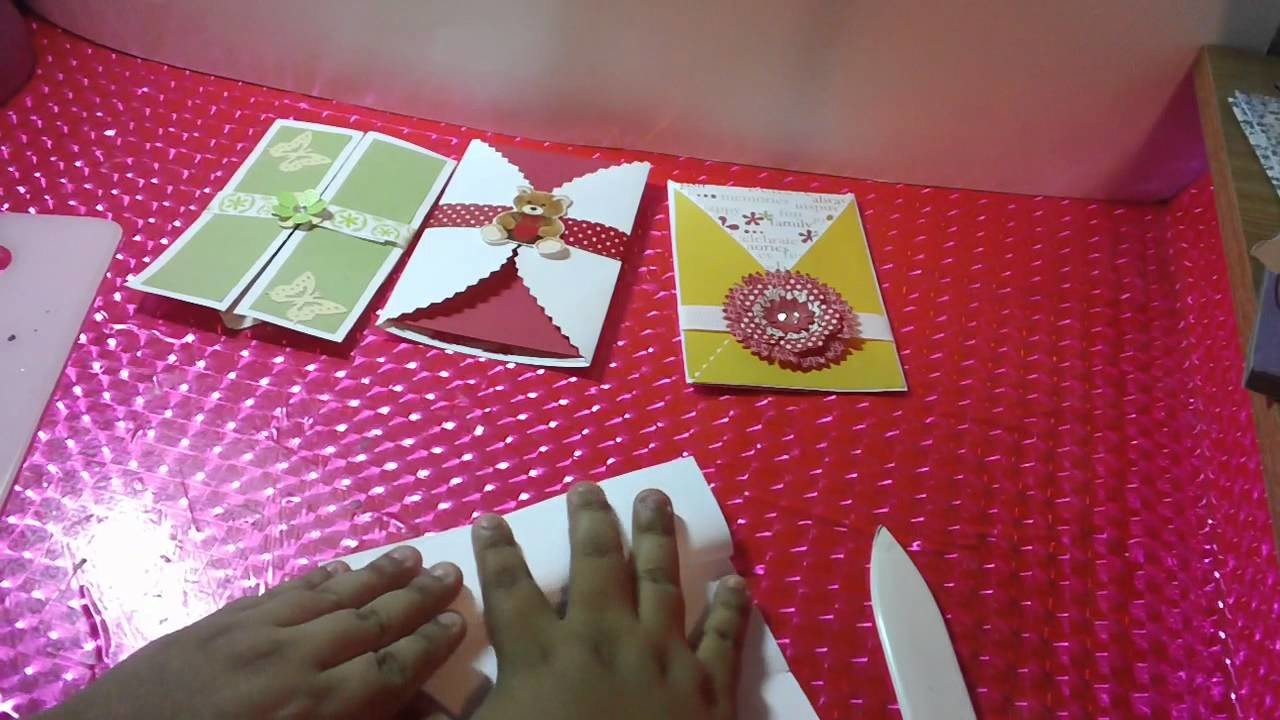 3 TARJETAS.SOBRE POP OPEN SCRAPBOOK FACIL Y ORIGINAL