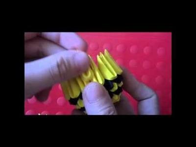 3D origami bee kid part 1