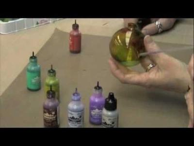 Alcohol Ink Splatter Ornaments