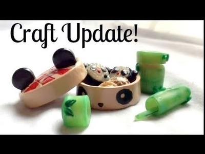 Big Craft update (clay & resin) pandas, bento box, cupcakes, alice and more!