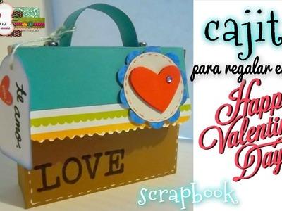 Cajita scrapbook para San Valentin