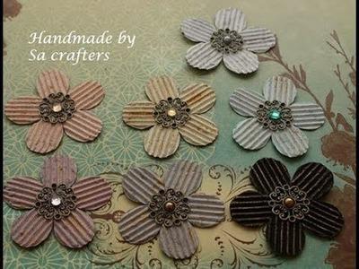 Cardboard Flower Tutorial