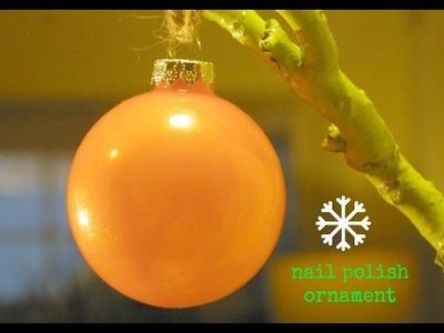 Christmas Holiday Craft: Nail Polish Ornaments