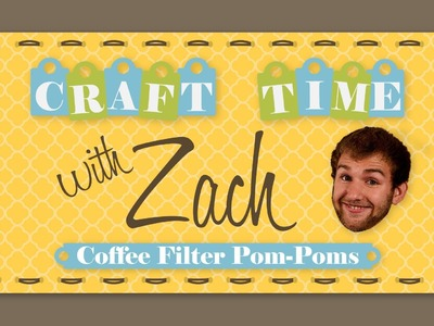 Coffee Filter Pom-poms - Craft Time with Zach - Big Dot of Happiness