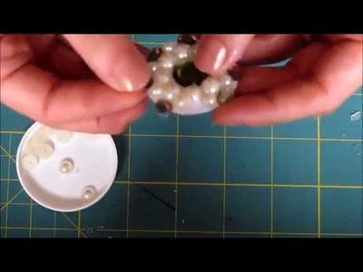 Como fazer flor de pérolas para scrapbook