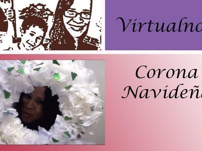 Corona Navideña -Tutorial de manualidades