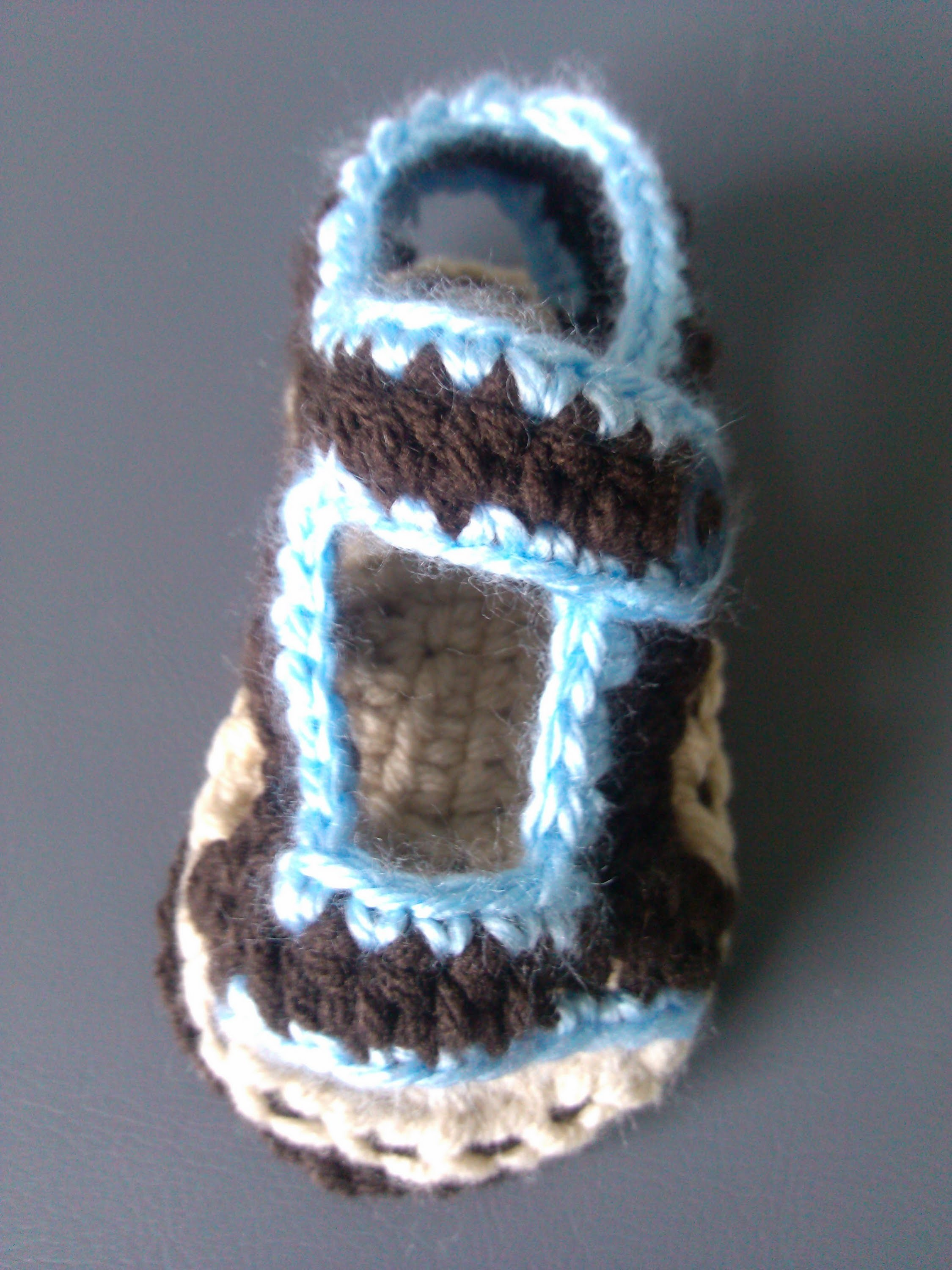 Crochet baby sandals - part one Corrected