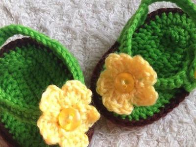 Crochet Cute Baby Flip Flops - Crafts - Guidecentral