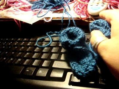 Crochet preemie baby botties