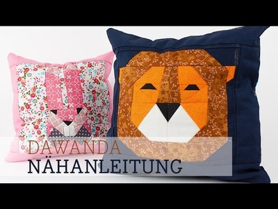 DaWanda Nähanleitung: Paper Piecing Löwe mit DIY Eule