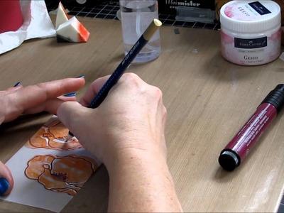 Design Memory Craft Gelatos and Stamping on Vellum