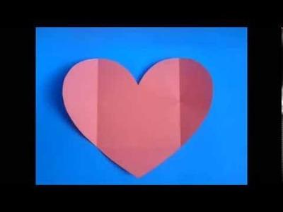 DIY. Heart Envelope ♥  Manualidades. Sobre de Corazon
