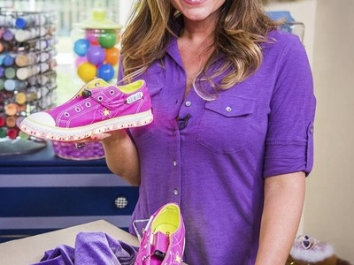 DIY Light Up Shoes - Tanya Memme and Benjamin Stockham show you the coolest shoes!
