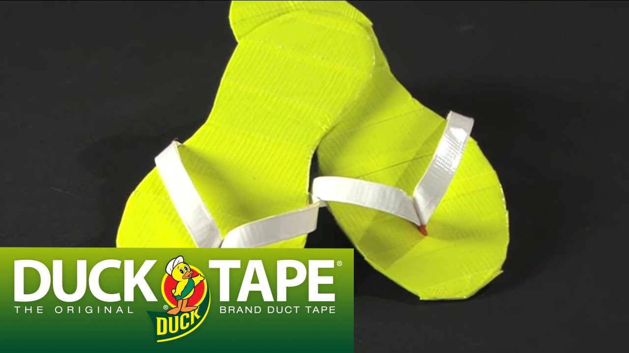 Duck Tape Crafts: How to Make Flip Flops