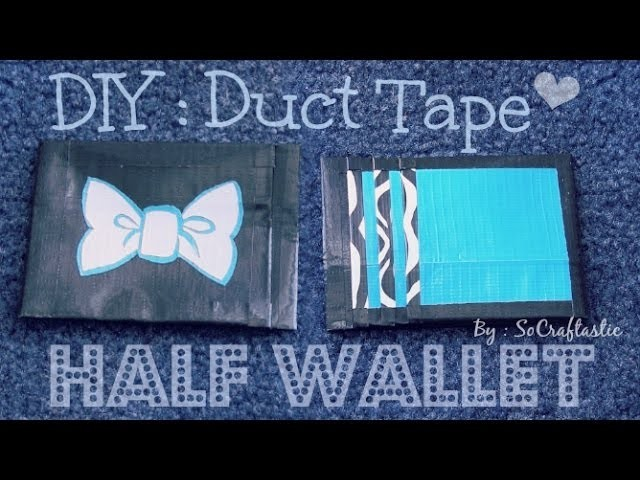 Duct Tape Half Wallet. Card Holder - How To