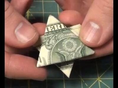 Easy Dollar Bill Origami - Make a Money Star - Tutorial - Star of David