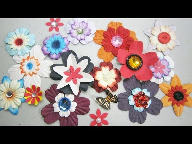 Episodio 573- Tècnicas simples para realizar flores de papel para álbum de recortes o scrapbook