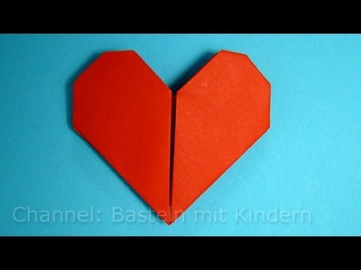 Herz falten - Einfaches DIY Geschenk basteln - Origami Herz