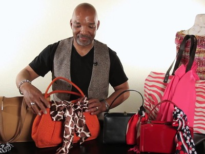 How to Attach a Scarf to a Handbag : Handbag Ideas