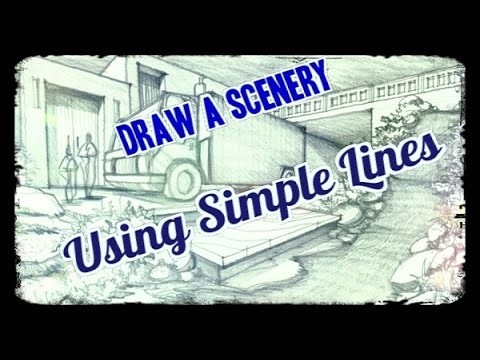 How to | Draw Scenery using Simple Lines
