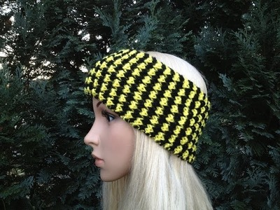 How to Knit Earwarmers.Headband by ThePatterfamily P#4