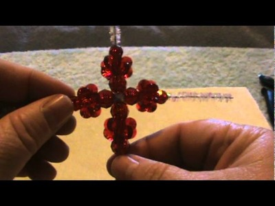 How To Make a Beautiful Beaded Cross Ornament For Your Christmas Tree